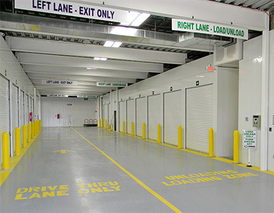 Interior view of EZ Storage and storage units at Crestwood, MO location