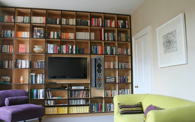 floor to ceiling shelves