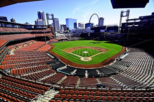 View of St Louis from Busch Stadium