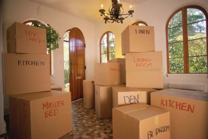 tips for packing, labeling, moving