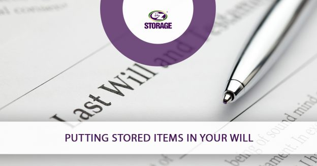 Putting Stored Items in Your Will