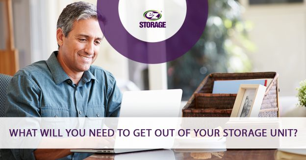 what will you need to get out of your storage unit