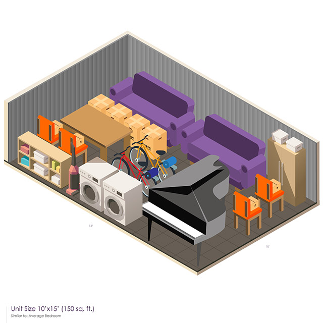 10 x 15 Storage Unit Space guide
