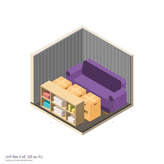 5 x 5 Storage Unit Space guide