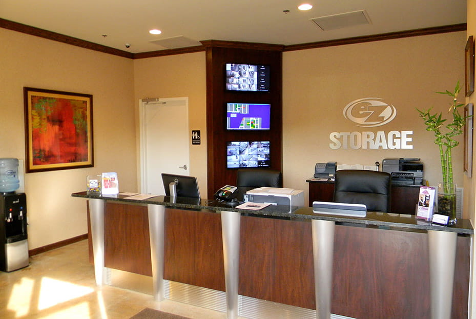 Front desk and reception area of EZ Storage location at Crestwood, MO