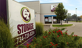 Wayne Michigan 48101 EZ Storage state-of-the-art storage facility featuring climate-controlled storage as well as standard storage units.